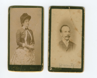 Harriet Postlewait and William Montgomery c1884