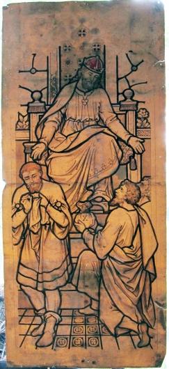 Seaham England 1885 Christ Church Anglican Cartoon central light