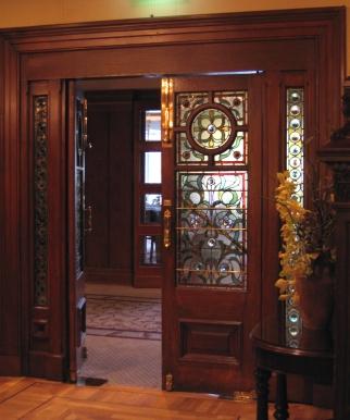 East Melbourne Cliveden main doors 1888 005